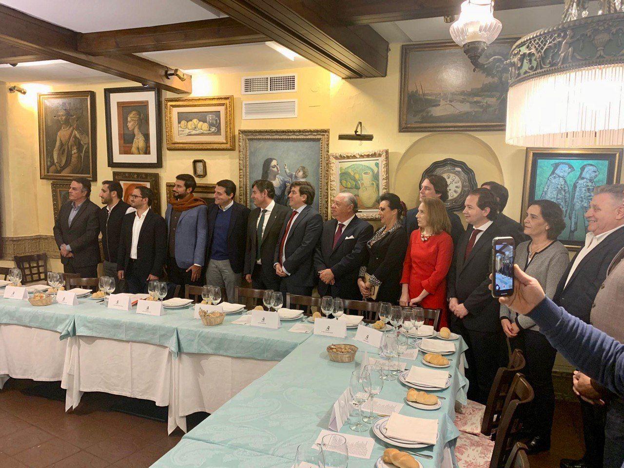 El presidente y vicepresidente del Córdoba CF acuden a la cena de ASFACO